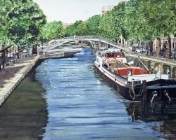 Paris Barge 22x40