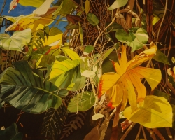 Tropical Leaves 22x30