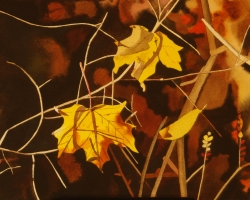 Yellow Leaves 12x12