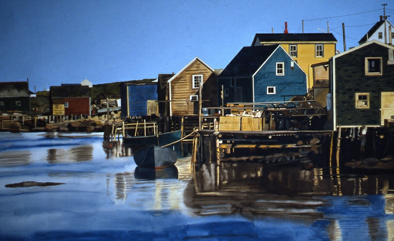 Nova Scotia Harbor 40x72