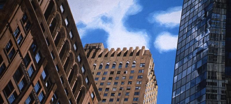 New York City Skyline 16x40